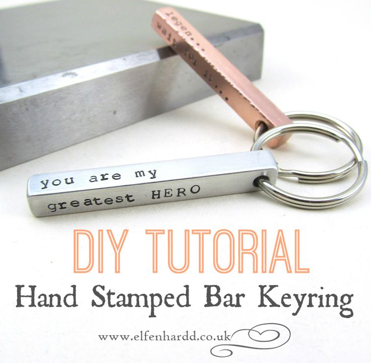 love this how to...brilliant :)DIY Tutorial - Hand Stamped Bar Keychain by Elfen Hardd