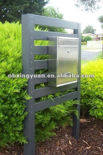 new design of home mail box/garden mail box with plastic wood $1~$200