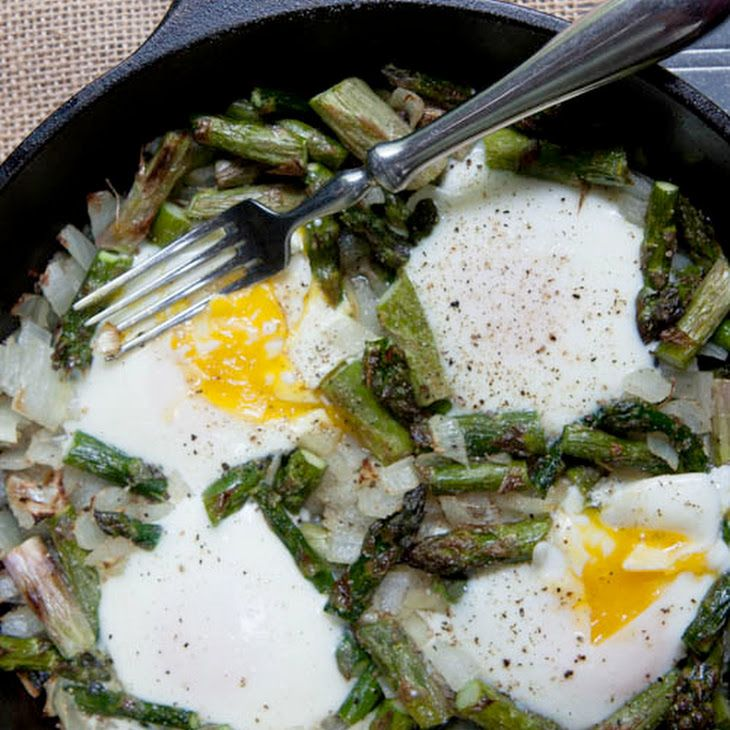Midnight Asparagus with Eggs Recipe Breakfast and Brunch with butter ...