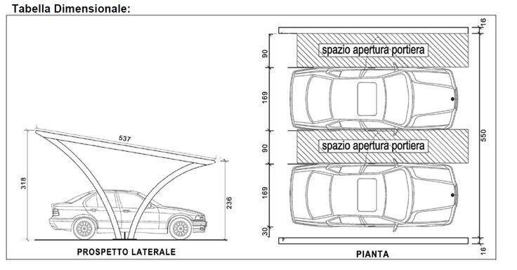 19 best parcheggi images on pinterest architecture - Misure garage per 2 auto ...