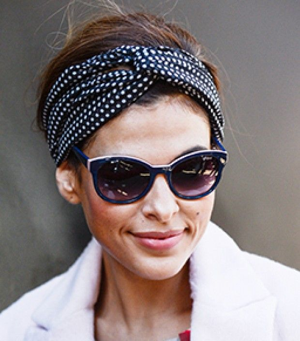 Never suffer a bad hair day again with Eva Mendes' headscarf tying tutorial.