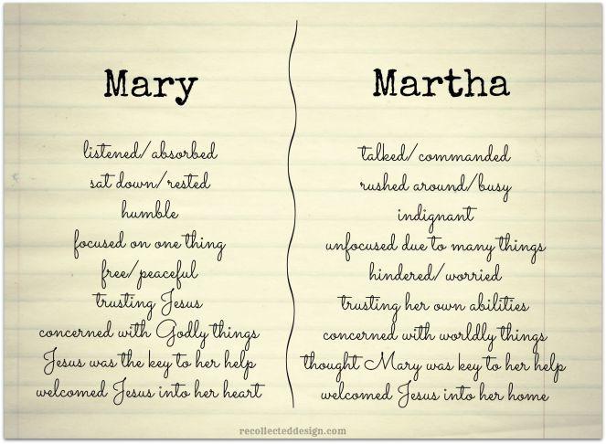 mary or martha