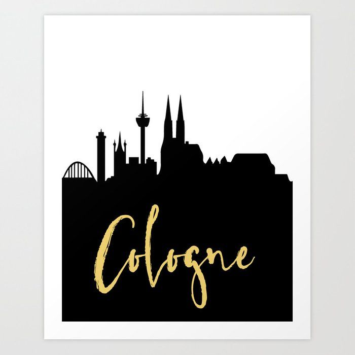 Cologne Germany Designer Silhouette Skyline Art Skyline Art City Skyline Art Cologne Germany