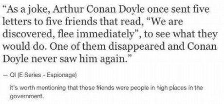 Sir Arthur Conan Doyle, the troll.