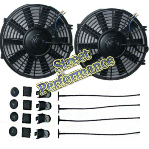 "2PCS Universal 7""inch 12V Electric Cooling Fan Thermo Fan &Mounting Kit HOT SALE"