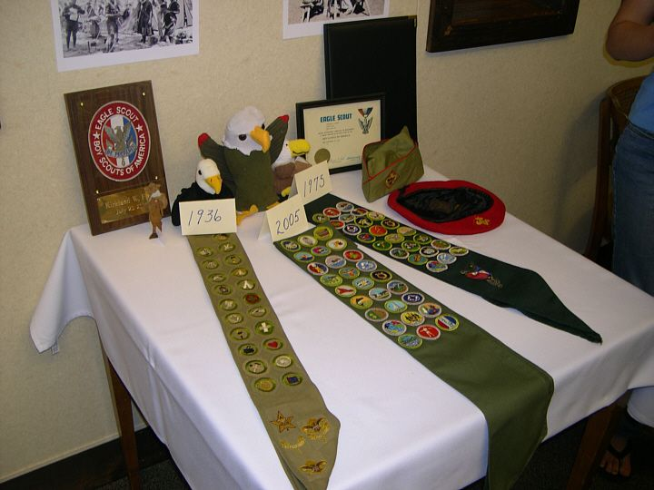 foto de eagle scout court of honor table decorations
