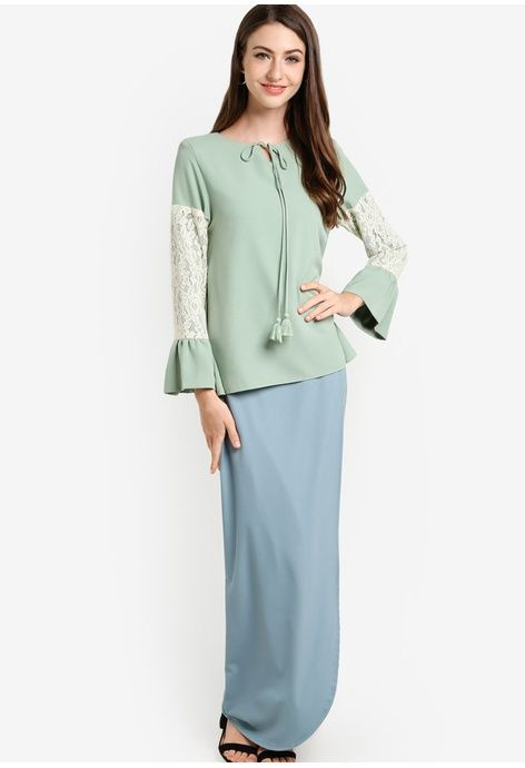 Zolace green Lasting Expression Baju Kurung Moden ZO350AA61IYKMY_1