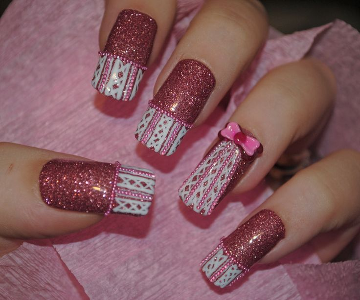 197 best Breast Cancer Awareness Nail Art images on Pinterest   Nail ...