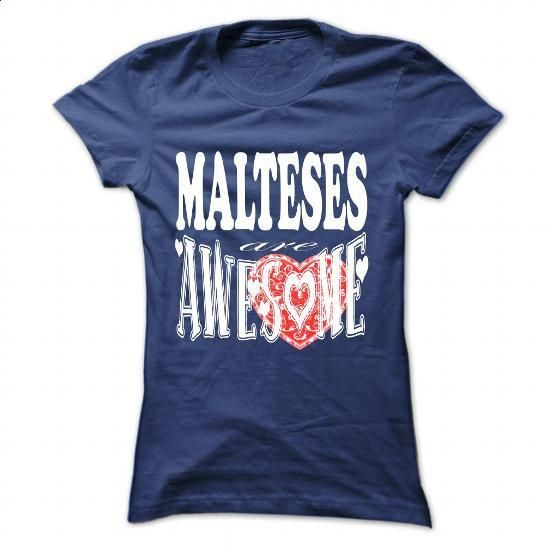 Malteses are awesome - #t shirts #college hoodies. ORDER NOW => https://www.sunfrog.com/Pets/Malteses-are-awesome-NavyBlue-57280088-Ladies.html?60505