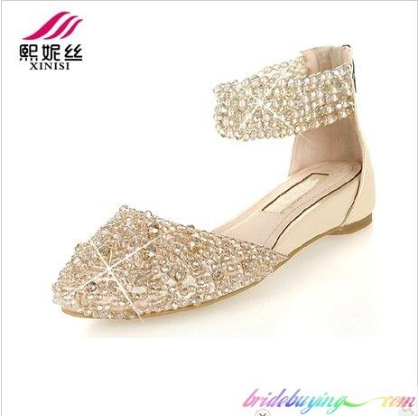 Champagne Colored Low Heels