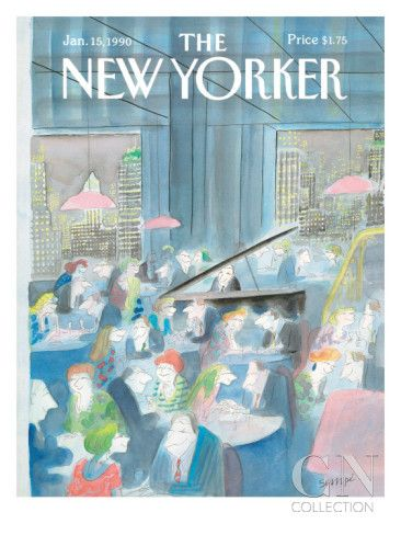 The New Yorker Cover - January 15, 1990 Poster Print by Jean-Jacques Sempé at the Condé Nast Collection