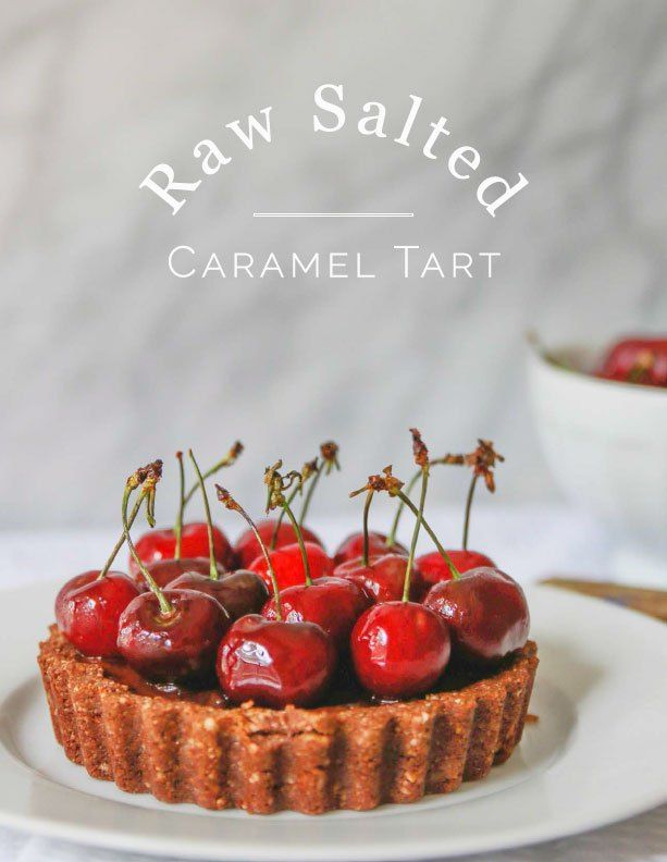 Raw Salted Caramel Tart. Gluten free, refined sugar free, vegan.
