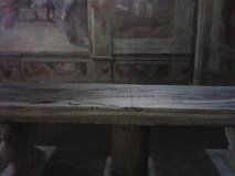 Miraculous Rock table (Oratory of Santa Barbara) - Celio