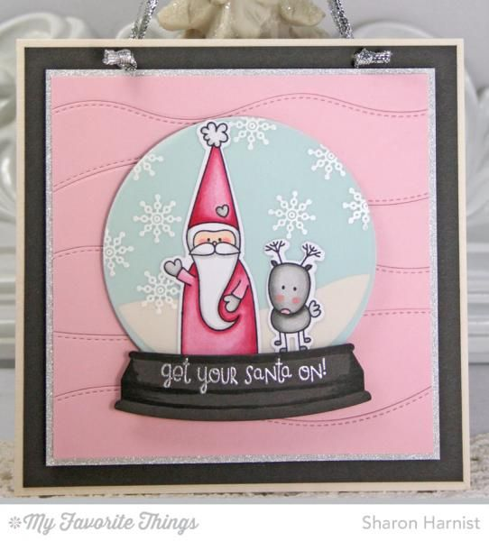 Get Your Santa On Snow Globe Wall Hanging