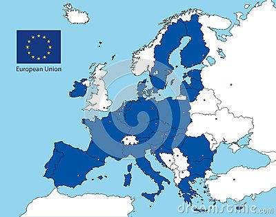 Vector file, illustration all the country of the european union and flag, after…
