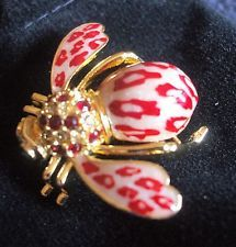 Красивые Джоан Риверс красный леопард пчела pin ~ новые в коробке