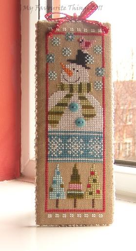 cute snowman cross stitch