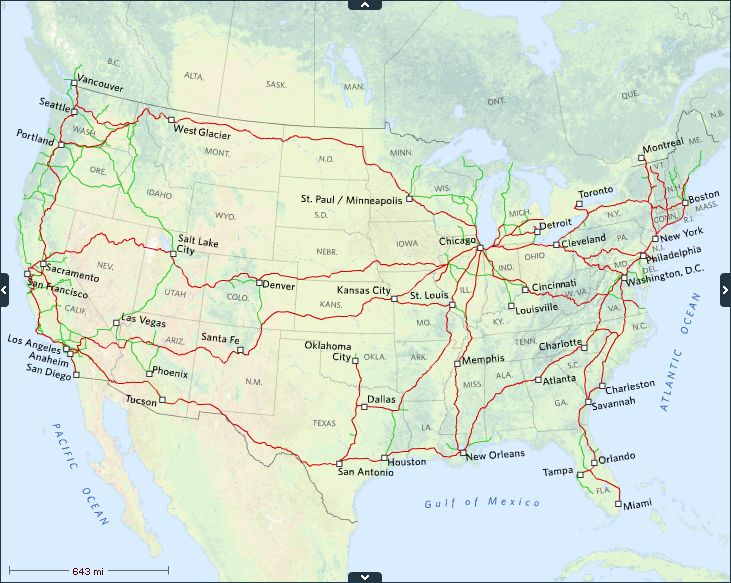 Best Amtrak Train Travel Ideas On Pinterest Train Travel - Amtrak map usa