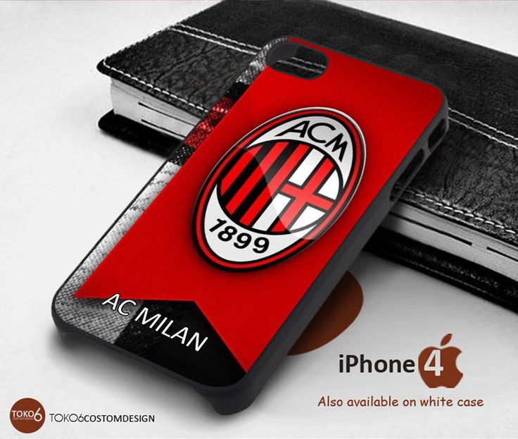 Ac Milan Logo for iPhone 4/4S, iPhone 5/5S, iPhone 6, iPod 4, iPod 5, Samsung Galaxy Note 3, Galaxy Note 4, Galaxy S3, Galaxy S4, Galaxy S5, Galaxy S6, Phone Case