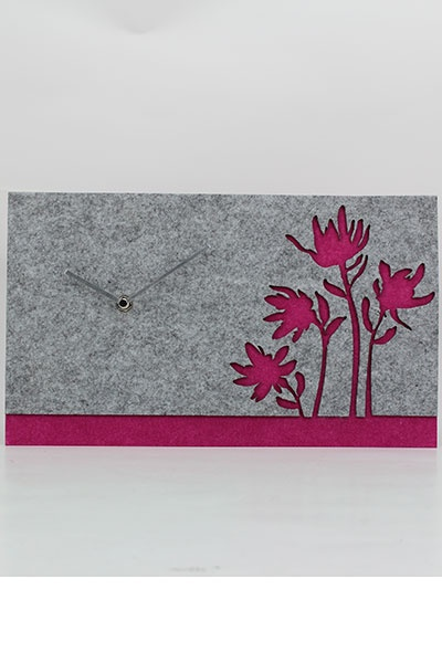 eco-friendly felt material wall clock