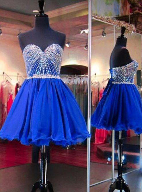 Royal Blue A-line/Princess Homecoming Dresses, Royal Blue Homecoming Dresses, A-line/Princess Homecoming Dresses, Short Homecoming Dresses, Royal Blue dresses, Blue Homecoming Dresses, Royal Blue Short dresses, Short Blue Dresses, Homecoming Dresses Short, Blue Short Dresses, Short Tulle dresses