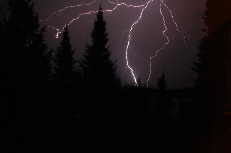 Photo of lighting at Mont Tremblant, Quebec.