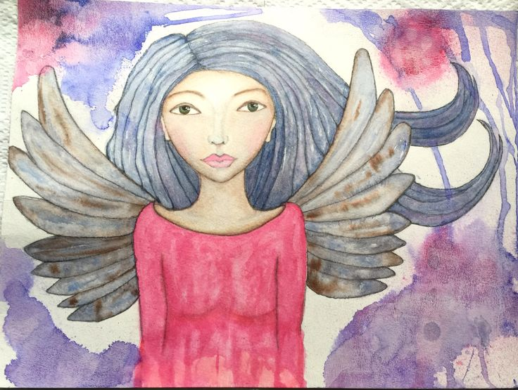 I have been drawing angels lately.   Drawn by Kat Gale Studio