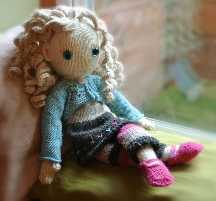 knit doll patterns | Pixie Moon knitted doll clothes by Claire Garland