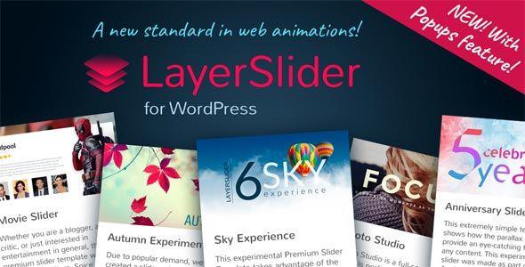 ساخت اسلایدر حرفه ای و کاملا واکنشگرا توسط افزونه وردپرس افزونه وردپرس LayerSlider Responsive WordPress Slider