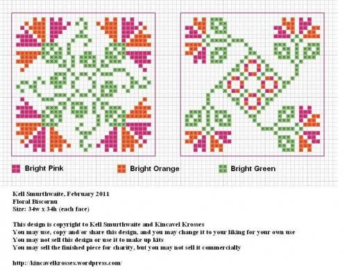floral cross stitch charts