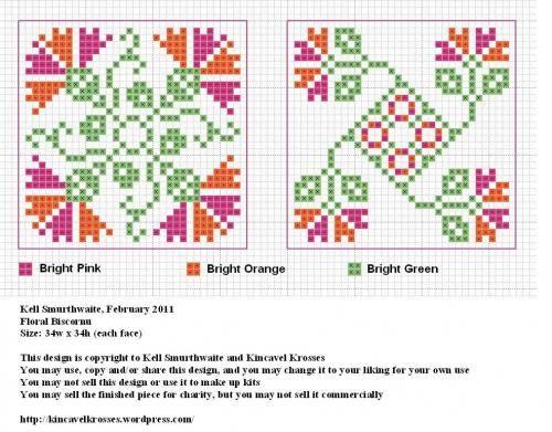 floral cross stitch charts