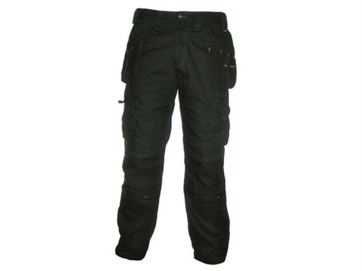 DeWalt Workwear - Pro Tradesman - Black Work Trousers / Pants Kneepad Pocket