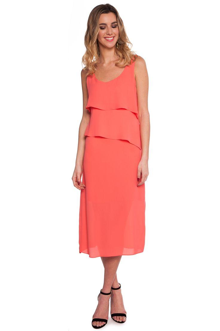 Vestido Tulipán Coral