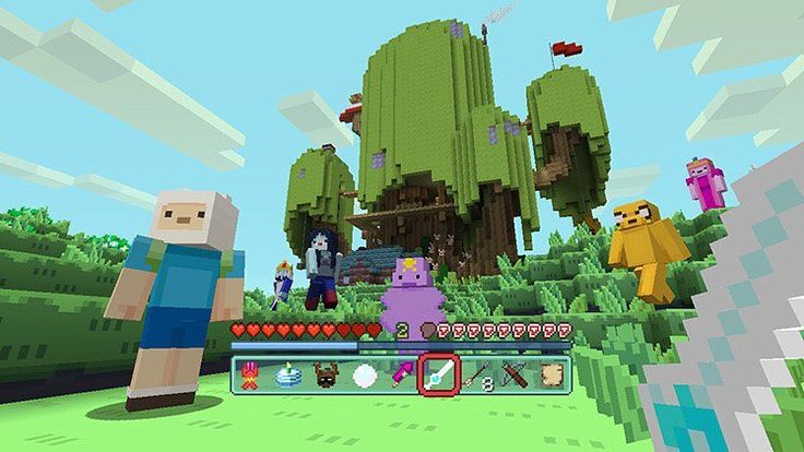Finn Jake Princess Bubblegum Marceline and a lot more Adventure Time characters are now available in Minecraft on consoles. The Switch and Wii U will follow in the upcoming days and PC soon.  #Minecraft #adventuretime #finn #jake #marceline #princessbubblegum