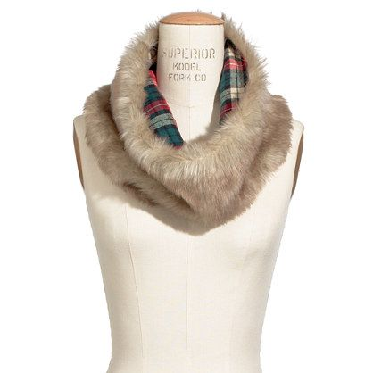 faux fur circle scarf / madewell ha ha we have some that we made for our vintage market... Great minds think alike!