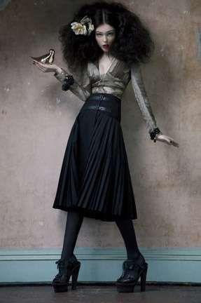 Haunted Baroque Editorials: Coco Rocha in the Vogue Korea 'Legend of Fall' Shoot Good.
