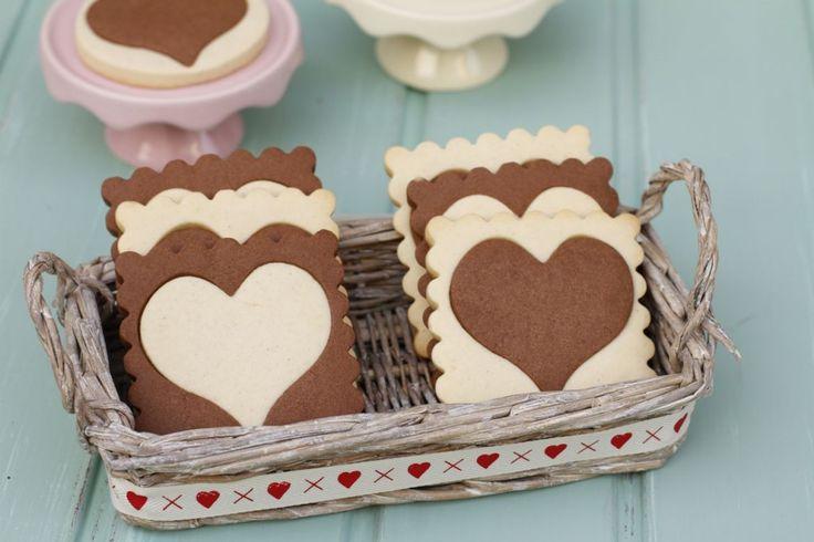 """Galletas de vainilla y chocolate son de """"corta y pega"""" Vanilla and chocolate """"copy & paste"""" cookies"""
