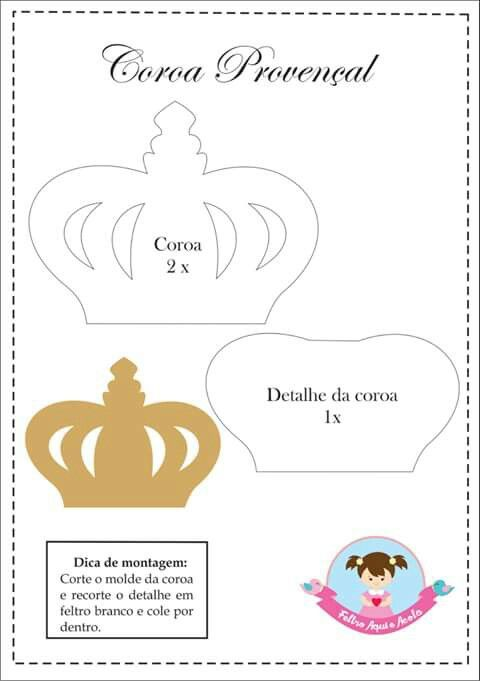 15 best Coroa ♔ images on Pinterest Crowns, Feltro and Birthdays - crown template