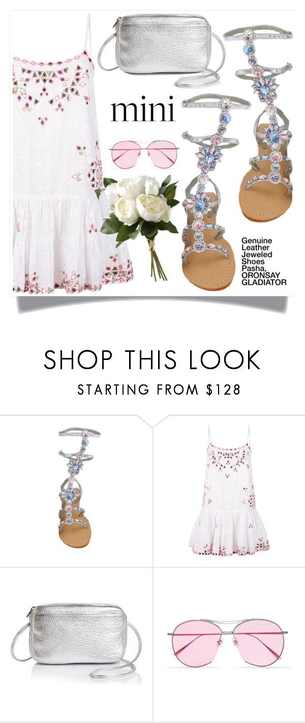 """""""Pasha Jewelry Sandals"""" by gorgeousjewelryshoes ❤ liked on Polyvore featuring Juliet Dunn, BAGGU, Gentle Monster, National Tree Company, sandals, summerstyle, jewelrysandals and pashasandals"""