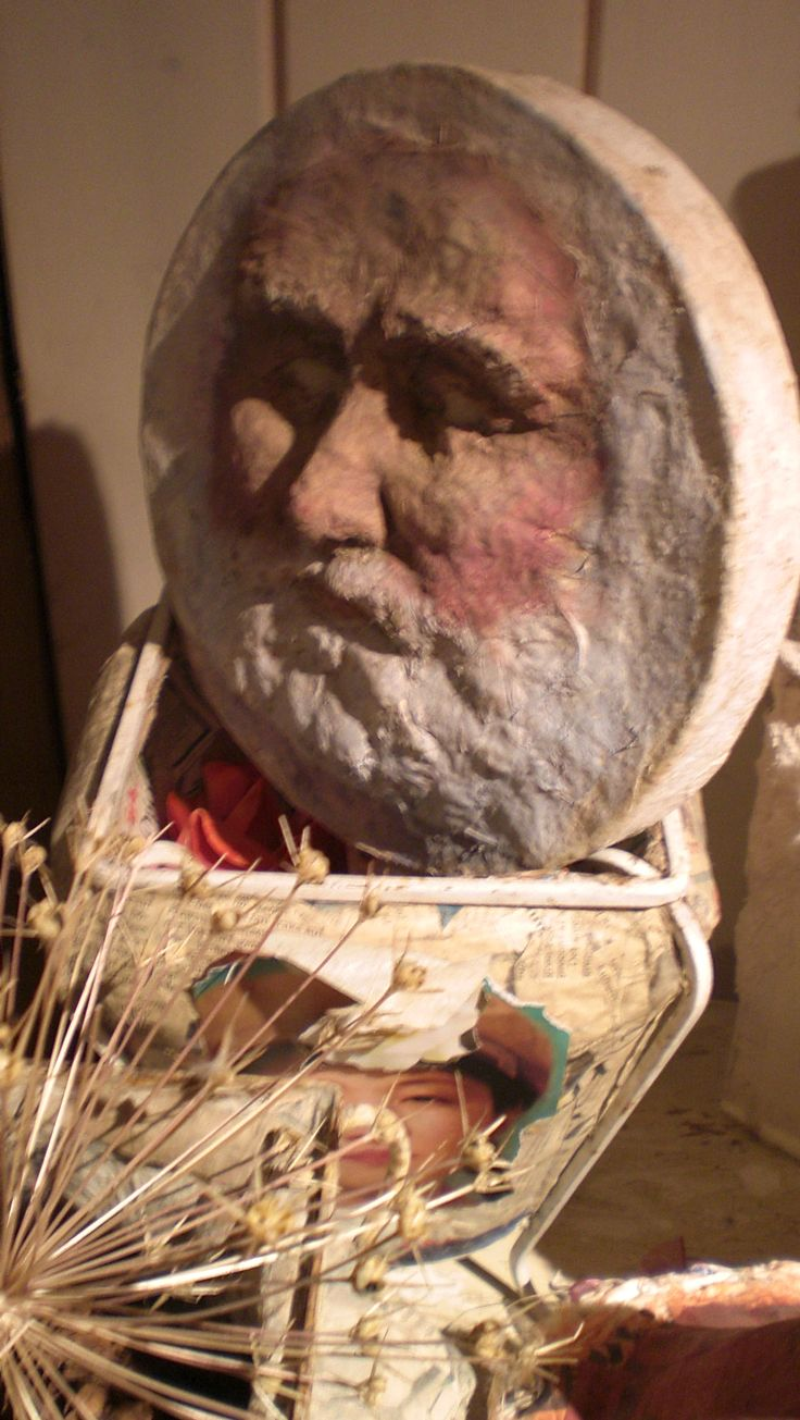 Santa box - earlier papermache work