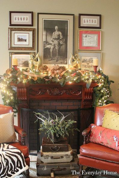 the little train that could amp my family room mantel, christmas decorations, seasonal holiday decor