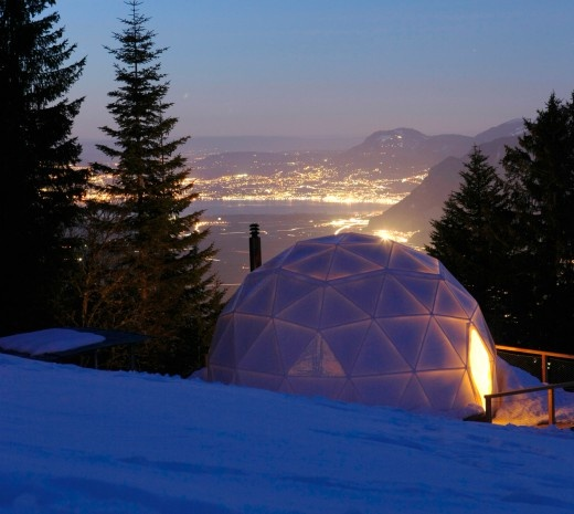 Talk about 1-of-a-kind travel experience. 7 Ultra Lux Tent Hotels- It's a dome!