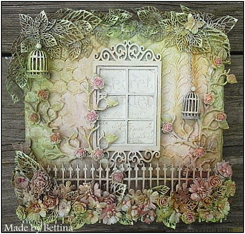 Scrap-Unlimited - pretty garden. Could use a small frame with someone's picture in it, like someone looking out of the window