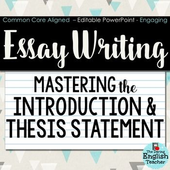 Help writing essay introduction paragraph