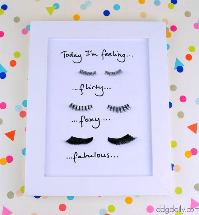 DDG DIY: Batt those lashes wall art tutorial