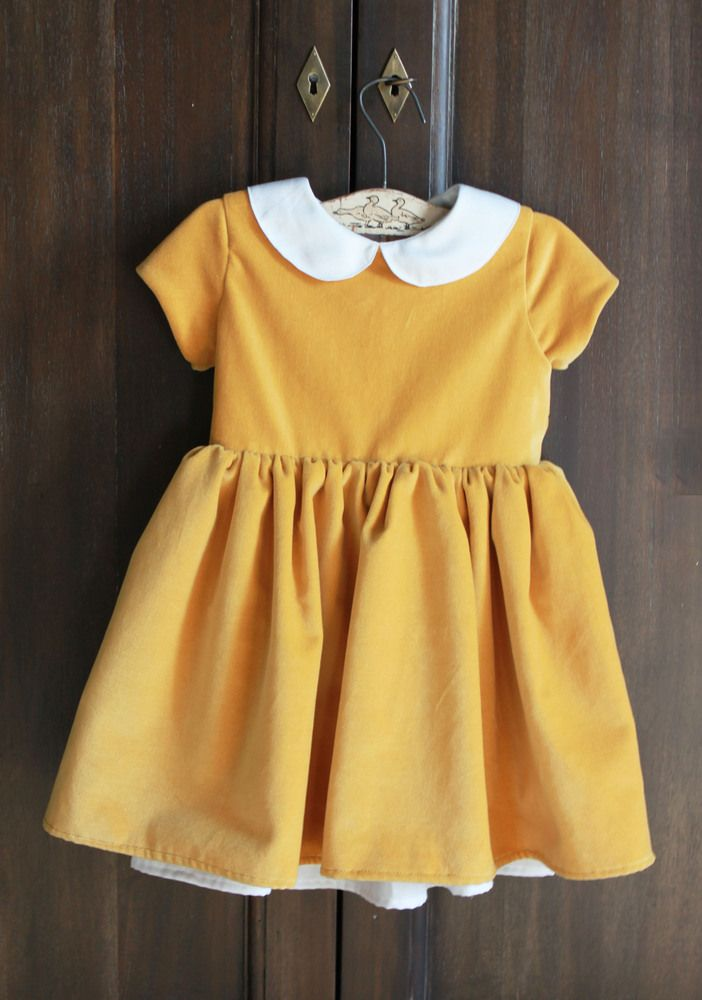 Yellow newborn baby dress