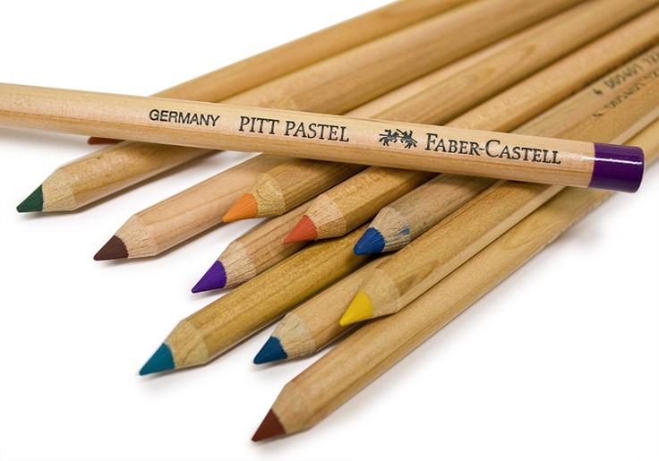 Faber-Castell Pitt Pastel Pencils. An incredibly versatile, oil free pencil! #fabercastell #pitt #pastelpencil #artsupplies