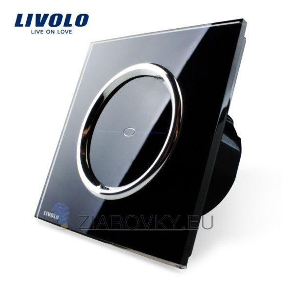 Luxusný dotykový vypínač v čiernom prevedení (2)