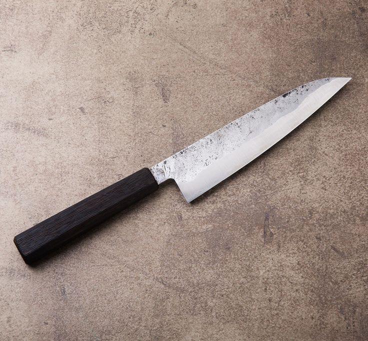 burnt oak gyuto 190mm chef knife handcrafted b bryan