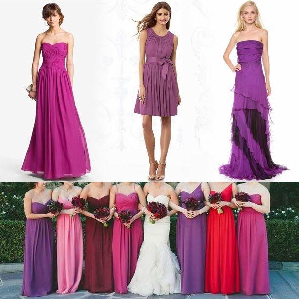 Radiant Orchid Bridesmaid Dresses #weddings